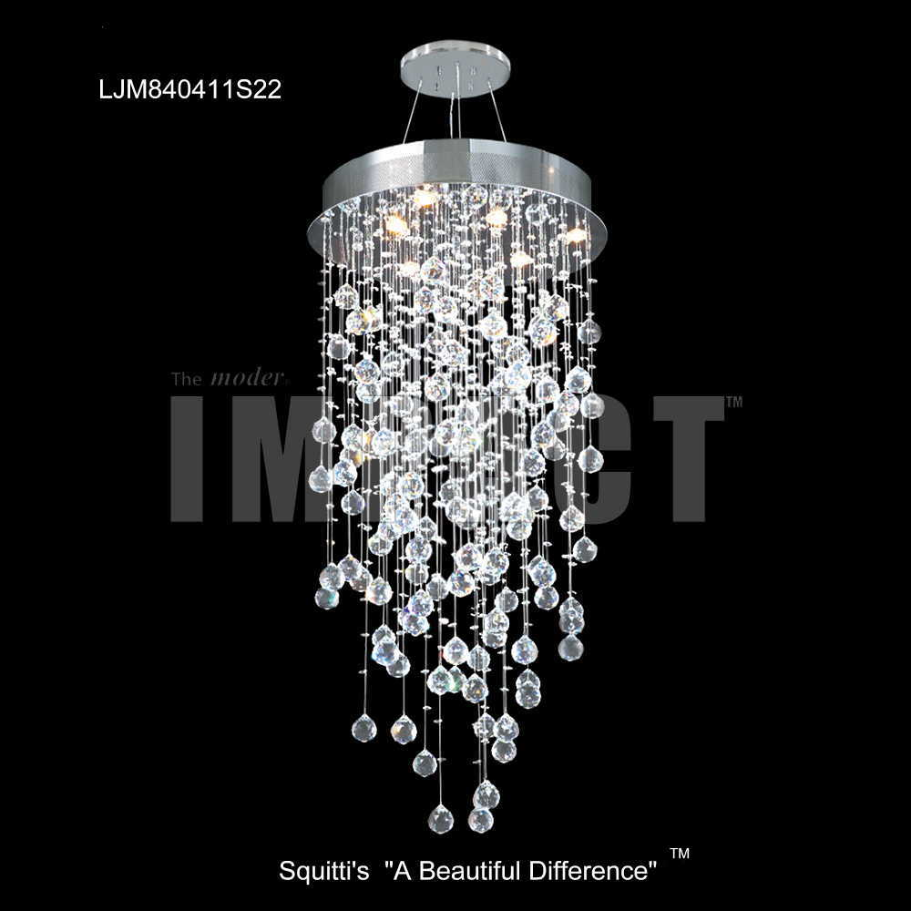 Large Entry Crystal Chandeliers from Squitti's