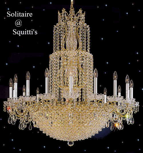 Solitaire crystal Chandeliers