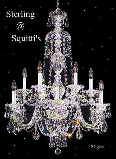 STERLING  cRYSTAL cHANDELIERS